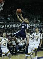 This MaxPreps.com professional photo is from the gallery Bellevue vs. Bellarmine Prep (King Holiday Hoopfest) which features Bellarmine Prep high school athletes playing  Basketball.