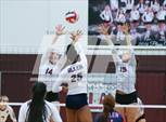 This MaxPreps.com professional photo features Plano high school Jaclyn Childress and Caitlin Cooper playing  Volleyball. This photo was shot by Neil Fonville and published on Fonville.