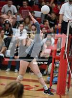 This MaxPreps.com professional photo features Murrieta Mesa high school Delaney Kiendra playing  Volleyball. This photo was shot by Kristi Aguirre and published on Aguirre.