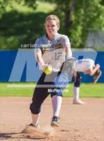 This MaxPreps.com professional photo features Nevada Union high school Riley Newman playing  Softball. This photo was shot by Curt Lerner and published on Lerner.