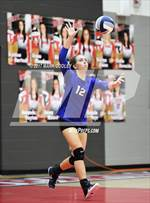 This MaxPreps.com professional photo features Robinson high school Kaegan Walker playing  Volleyball. This photo was shot by Mark Cooley and published on Cooley.