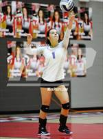This MaxPreps.com professional photo features Robinson high school Taylor Strain playing  Volleyball. This photo was shot by Mark Cooley and published on Cooley.