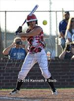 This MaxPreps.com professional photo features Brusly high school Jonette Fitzgerald playing  Softball. This photo was shot by Kenneth P Steib and published on Steib.