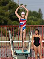 This MaxPreps.com professional photo is from the gallery CIF SJS Diving Finals (JV Girls) which features Beyer high school athletes playing Girls Swimming. This photo was shot by Gerardo Coronado and published on Coronado.
