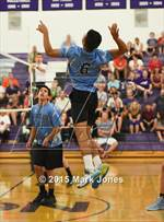 This MaxPreps.com professional photo is from the gallery Cactus @ Northwest Christian which features Cactus high school athletes playing Boys Volleyball. This photo was shot by Mark Jones and published on Jones.