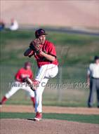 This MaxPreps.com professional photo is from the gallery Rancho Verde vs. Victor Valley which features Rancho Verde high school athletes playing  Baseball.