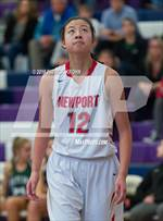 This MaxPreps.com professional photo features Newport - Bellevue high school Vanessa Hsia playing Girls Basketball. This photo was shot by Patrick Krohn and published on Krohn.