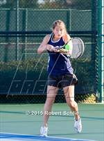 This MaxPreps.com professional photo is from the gallery Menlo vs Pleasant Valley (CIF NorCal Regional Girls Tennis Championships) which features Menlo School high school athletes playing Girls Tennis. This photo was shot by Robert Schlie and published on Schlie.
