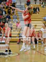 This MaxPreps.com professional photo features Cathedral Catholic high school Peyton Wilhite playing  Volleyball. This photo was shot by Reggie Zhu and published on Zhu.