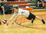 This MaxPreps.com professional photo features Enfield high school Zachary  Corso playing Boys Volleyball. This photo was shot by Ken Rutt and published on Rutt.
